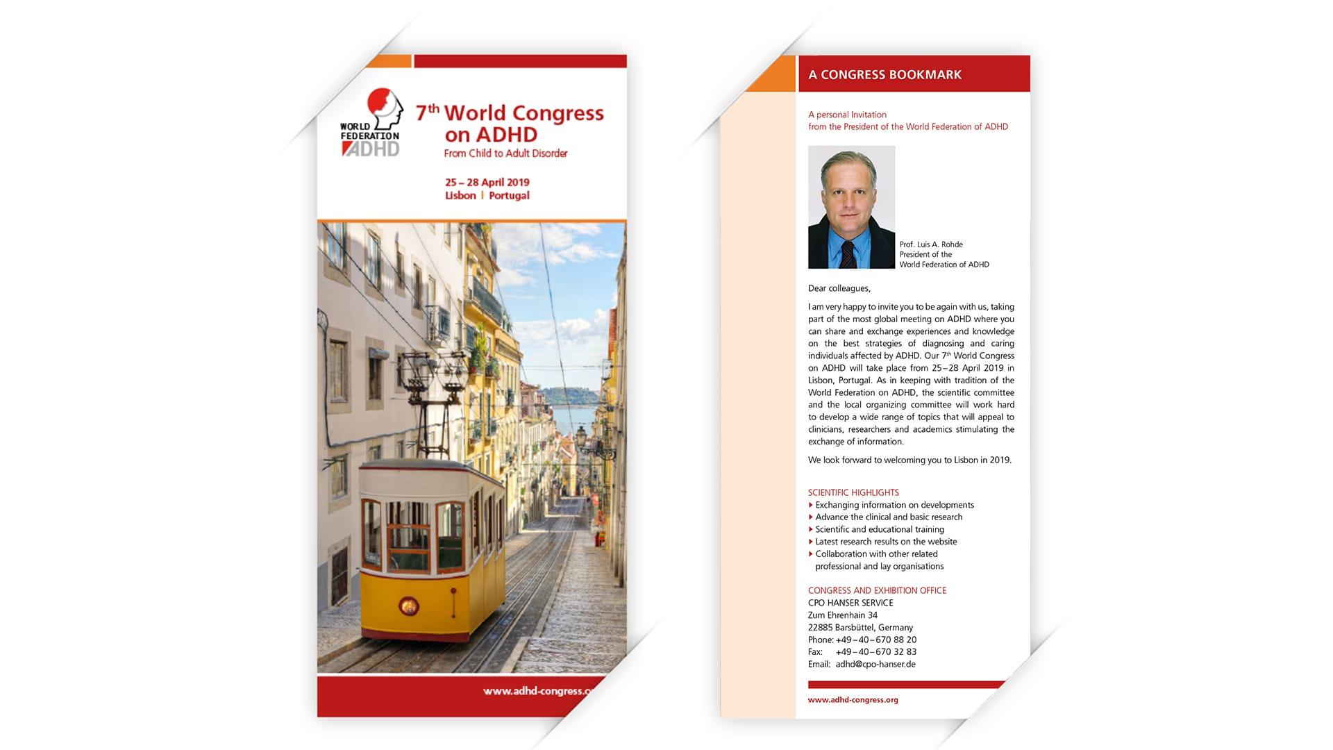 Bookmark 7th World Congress on ADHD Lisbon 2019